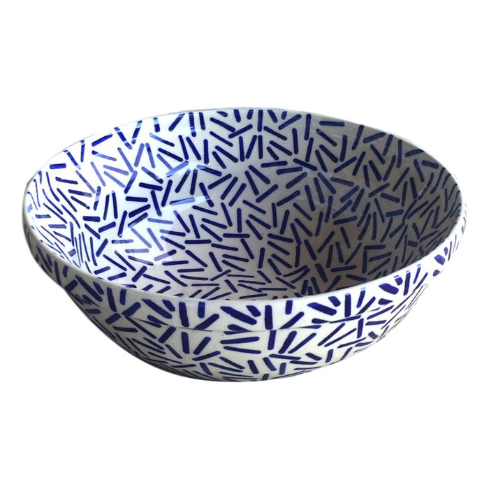 Op Art Blue - Medium Serving Bowl - PasParTou