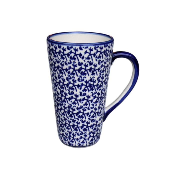 Blue Fern -  Tall Mug  Polish Ceramics - PasParTou