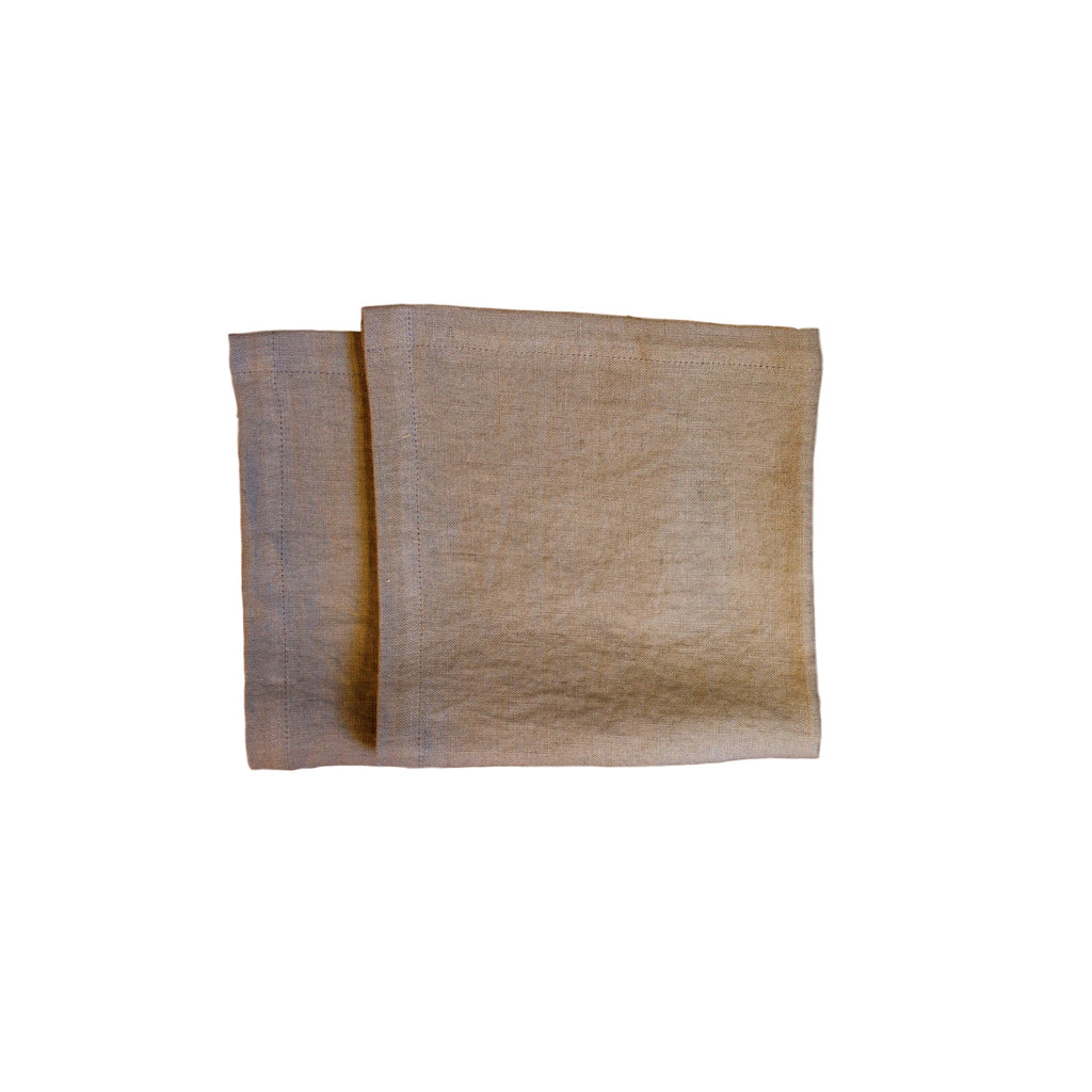 Napkins - Lt. Grey Softwashed Linen  napkins - PasParTou