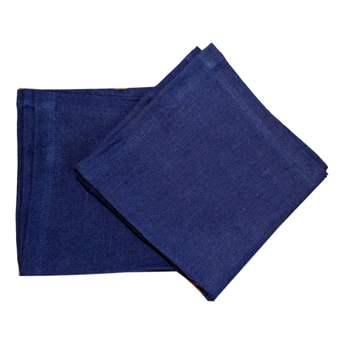 Napkins - Navy Softwashed Linen  napkins - PasParTou