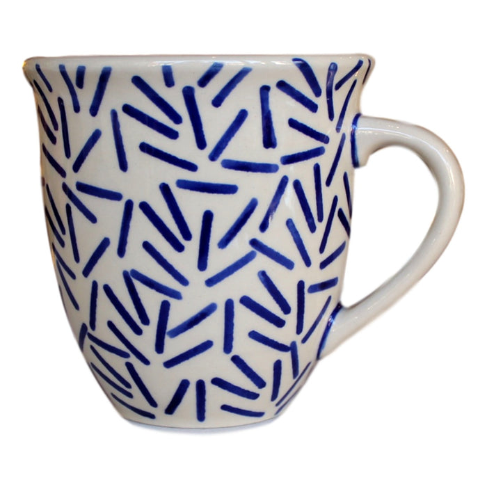 Op Art Blue - Big Cup  Polish Ceramics - PasParTou