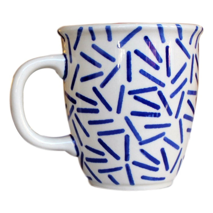 Op Art Blue - Cup  Polish Ceramics - PasParTou