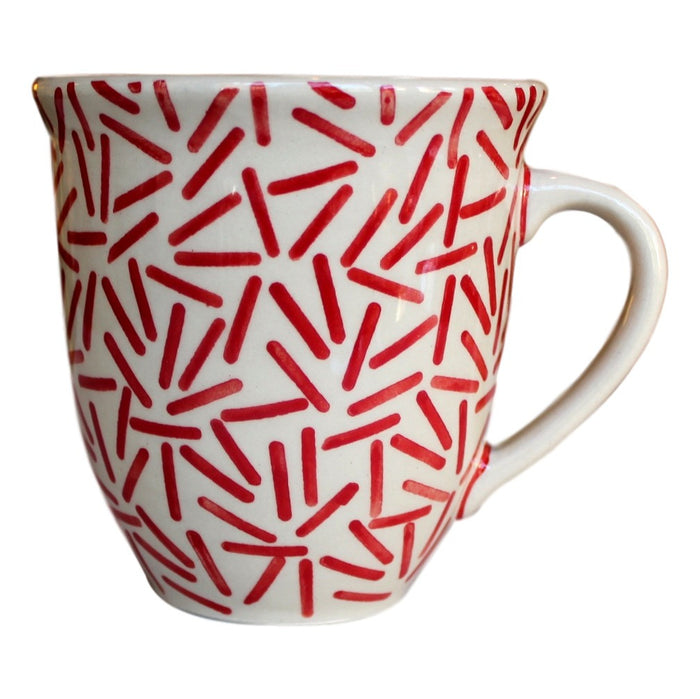 Op Art Red - Big Cup  Polish Ceramics - PasParTou