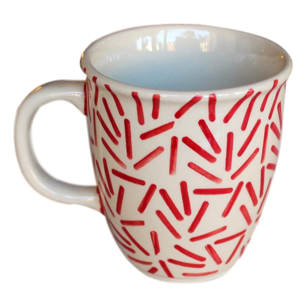 Op Art Red - Cup  Polish Ceramics - PasParTou