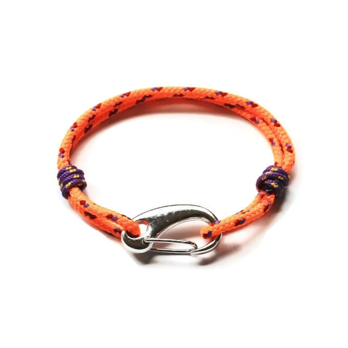 Racing Orange Rope Bracelet - PasParTou