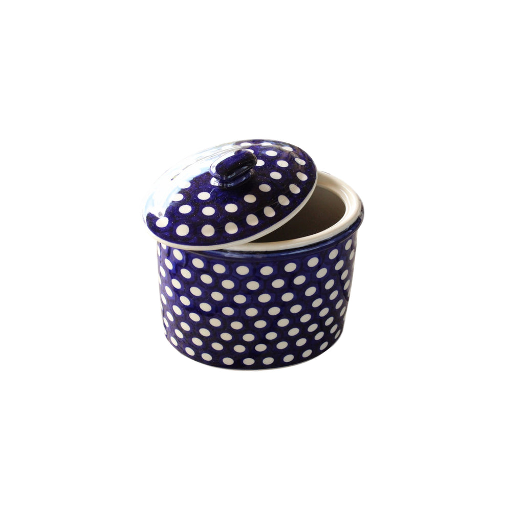 Dots - Oval Container  Polish Ceramics - PasParTou