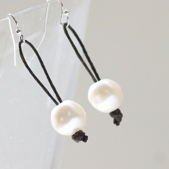 Pearl Earrings Simple Drop - PasParTou