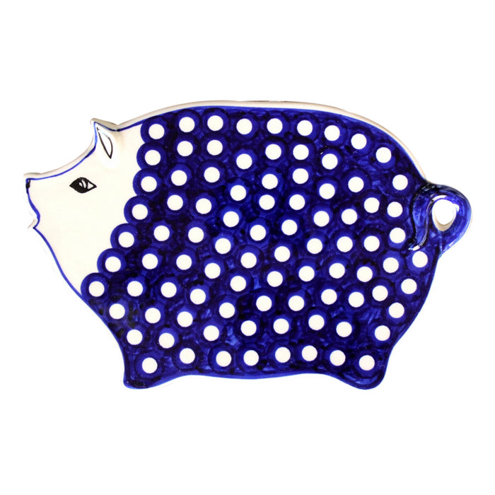 Dots - Cutting Board Piggy  Polish Ceramics - PasParTou