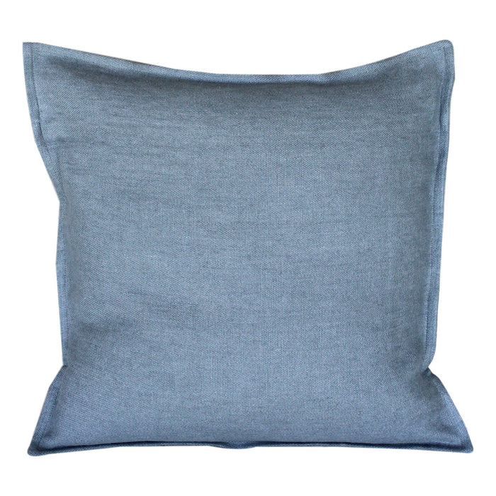 "Pillow Softwashed Linen Blueish-Grey 16"" x 16"""