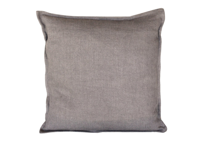 "Pillow Softwashed Linen Dark Grey 16"" x 16""  Pillows - PasParTou"