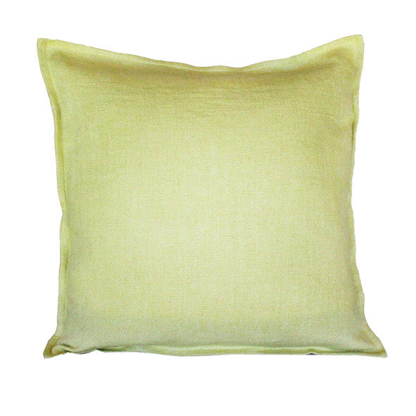 Pillow Soft Washed Linen Light Green 20 x 20  Pillows - PasParTou