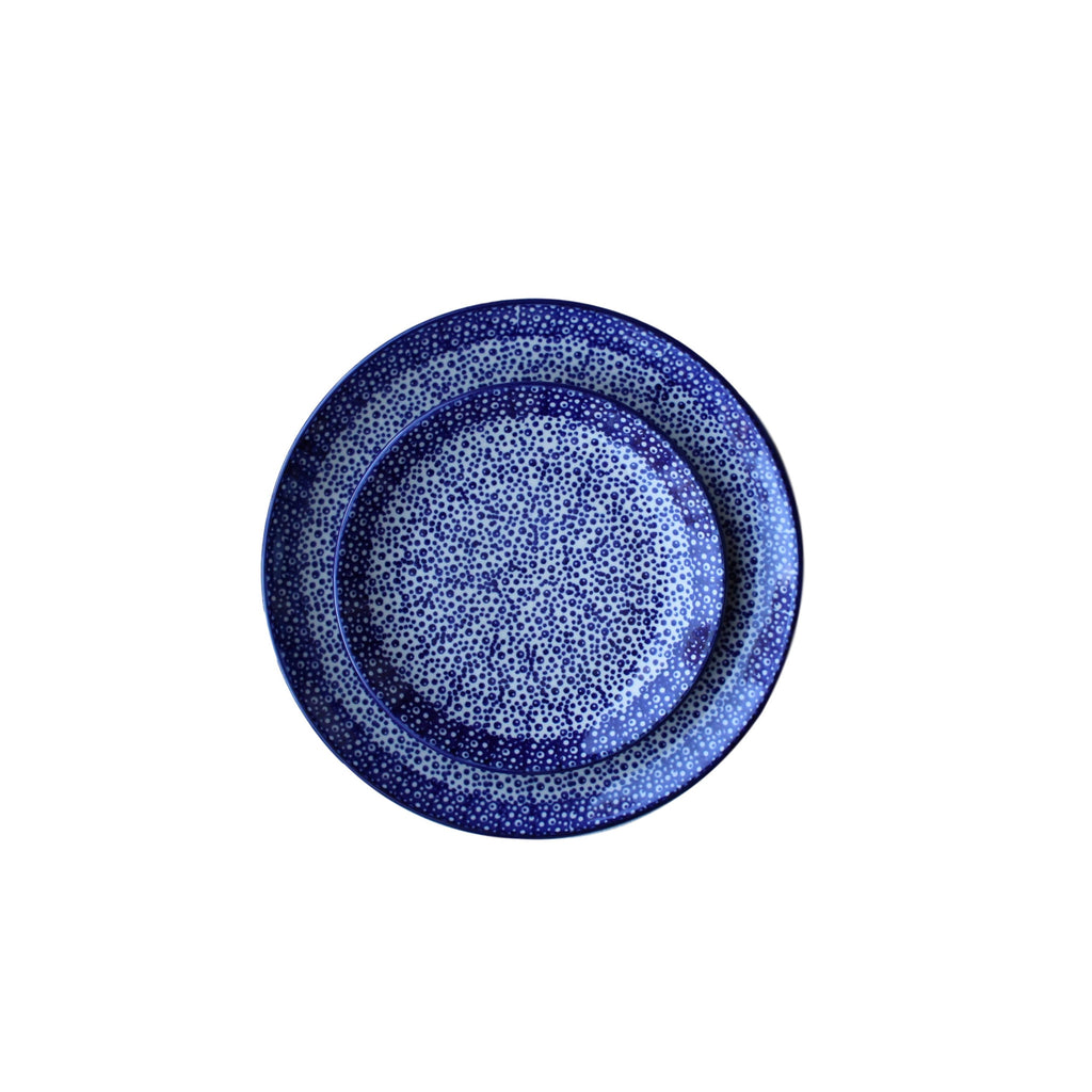 Blue Spatter - Dinner Plate  Polish Ceramics - PasParTou