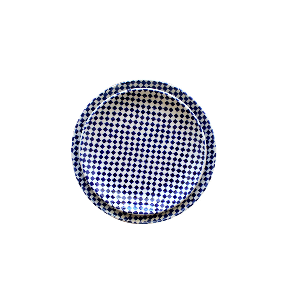 Checkerboard - Dinner Plate and Salad Plate - Pas-Par-Tou