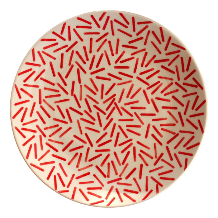 Op Art Red - Salad Plate - PasParTou