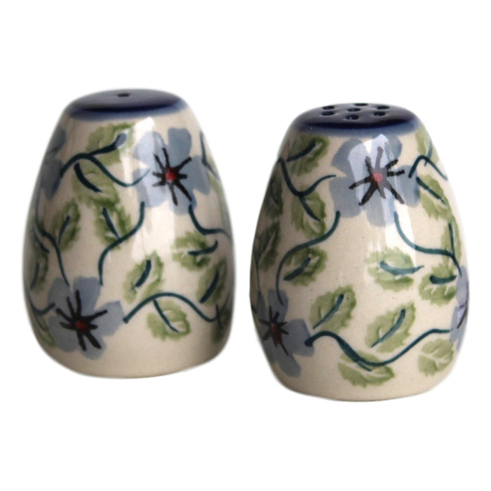 Spring Floral - Salt&Pepper Shakers - Egg Shape  Polish Ceramics - PasParTou