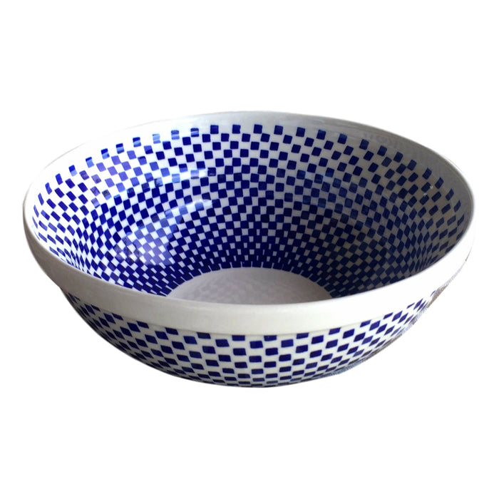 Checkerboard - Medium Serving Bowl  Polish Ceramics - PasParTou