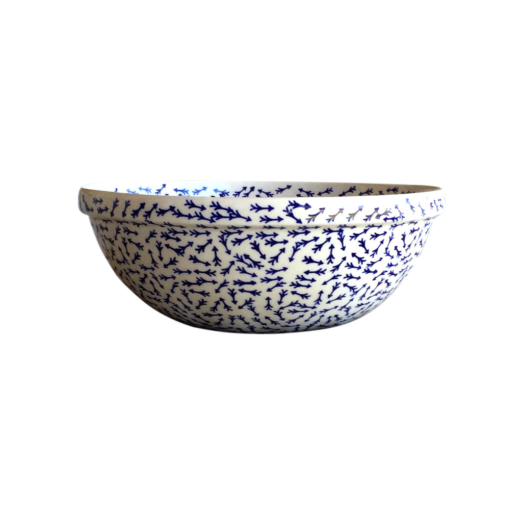 Blue Arrows - Medium Serving Bowl  Polish Ceramics - PasParTou