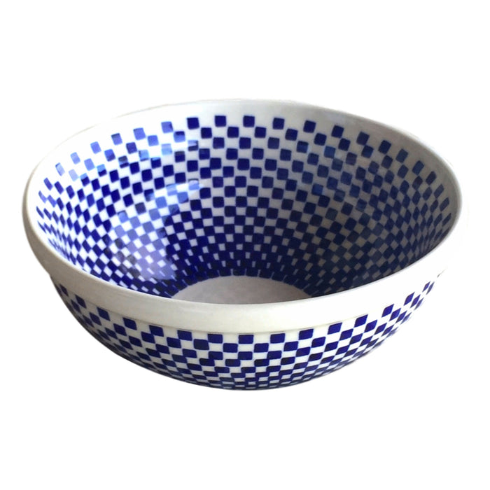 Checkerboard - Small Serving Bowl  Polish Ceramics - PasParTou
