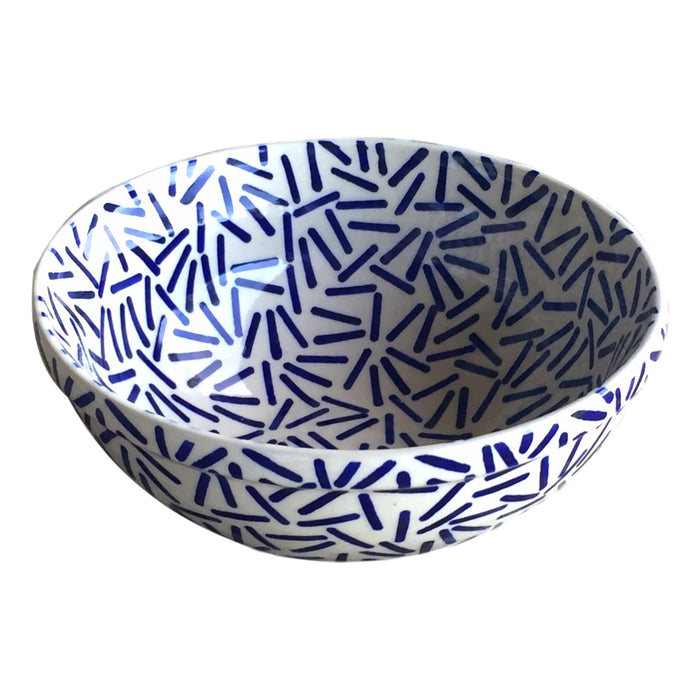 Op Art Blue - Small Serving Bowl - PasParTou