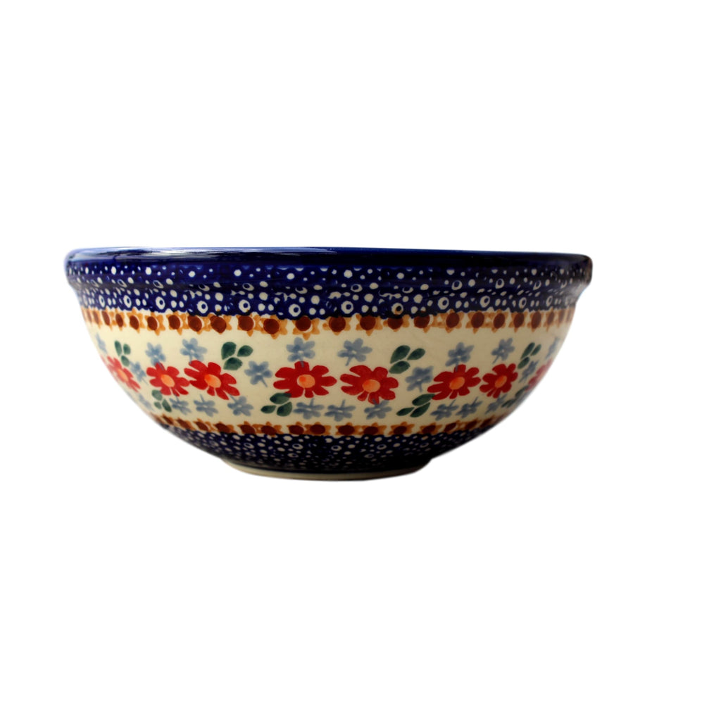 Country Floral - Small Serving Bowl  Polish Ceramics - PasParTou