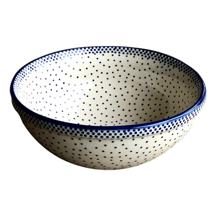 Tiny Blue Dots - Small Serving Bowl  Polish Ceramics - PasParTou