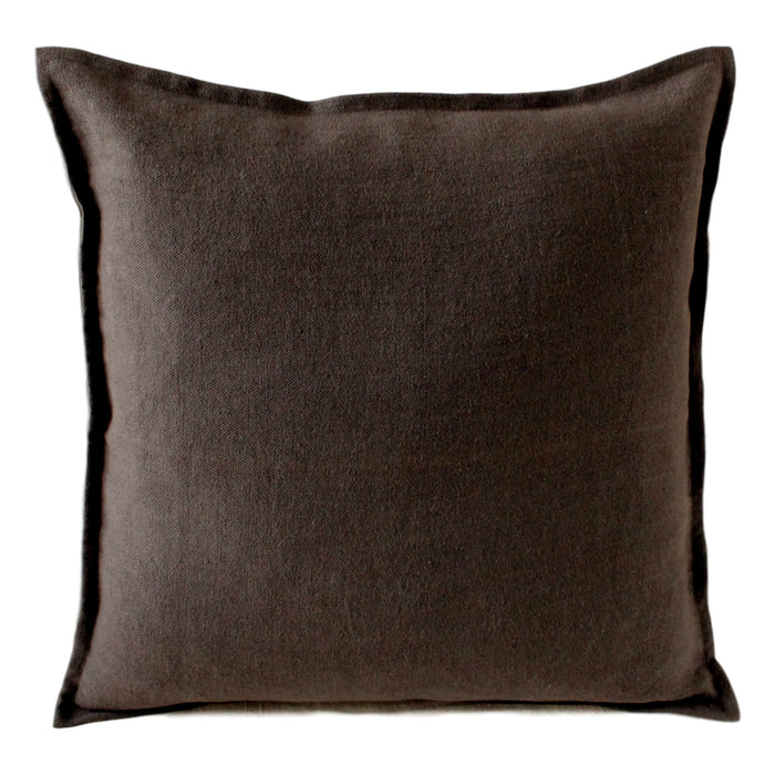 Pillow Soft Washed Linen Chocolate Brown - PasParTou