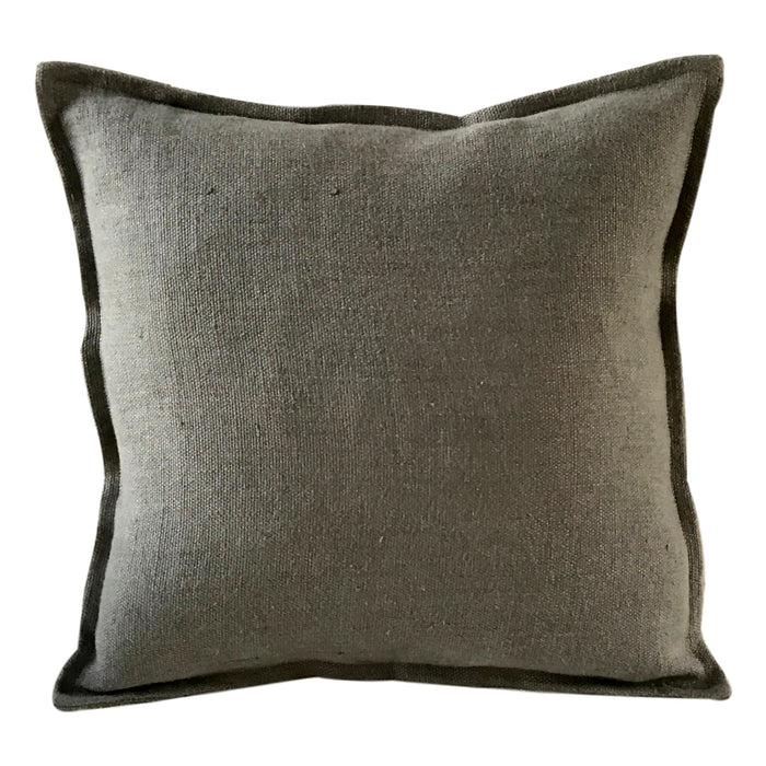 Pillow Soft Washed Linen Green Grey 20 x 20  Pillows - PasParTou