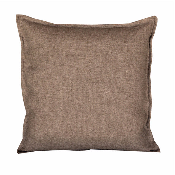 "Pillow Soft Washed Linen Light Brown 16"" x 16""  Pillows - PasParTou"