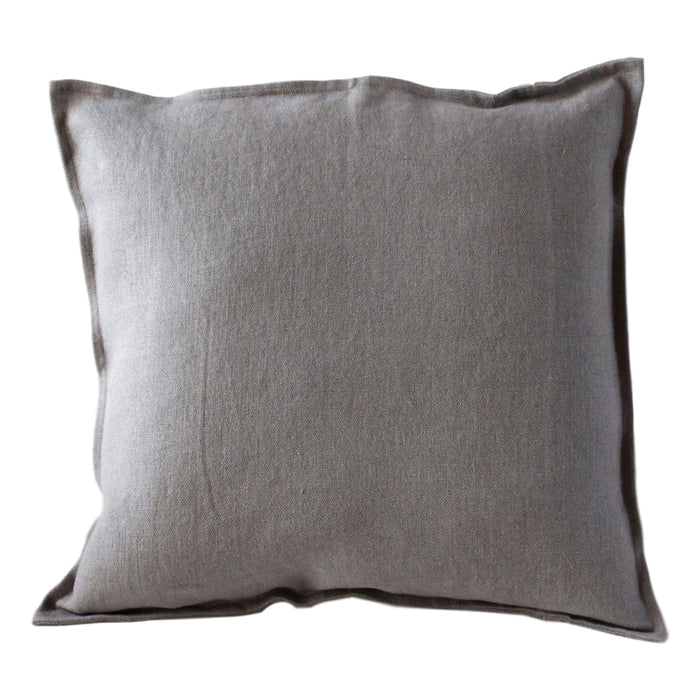 "Pillow Softwashed Linen Light Grey 16"" x 16""  Pillows - PasParTou"