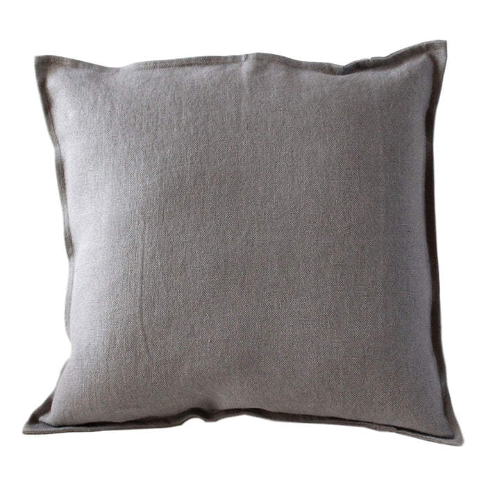 Pillow Soft Washed Linen Light Grey 20 x 20  Pillows - PasParTou