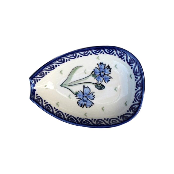 Blue Dahlia - Spoon Holder  Polish Ceramics - PasParTou