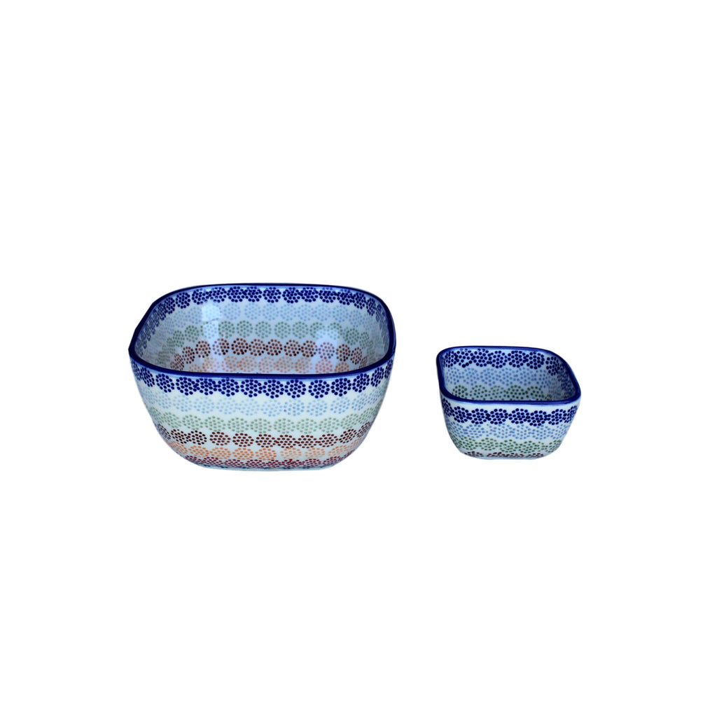 Pattern - Large Square Bowl - PasParTou