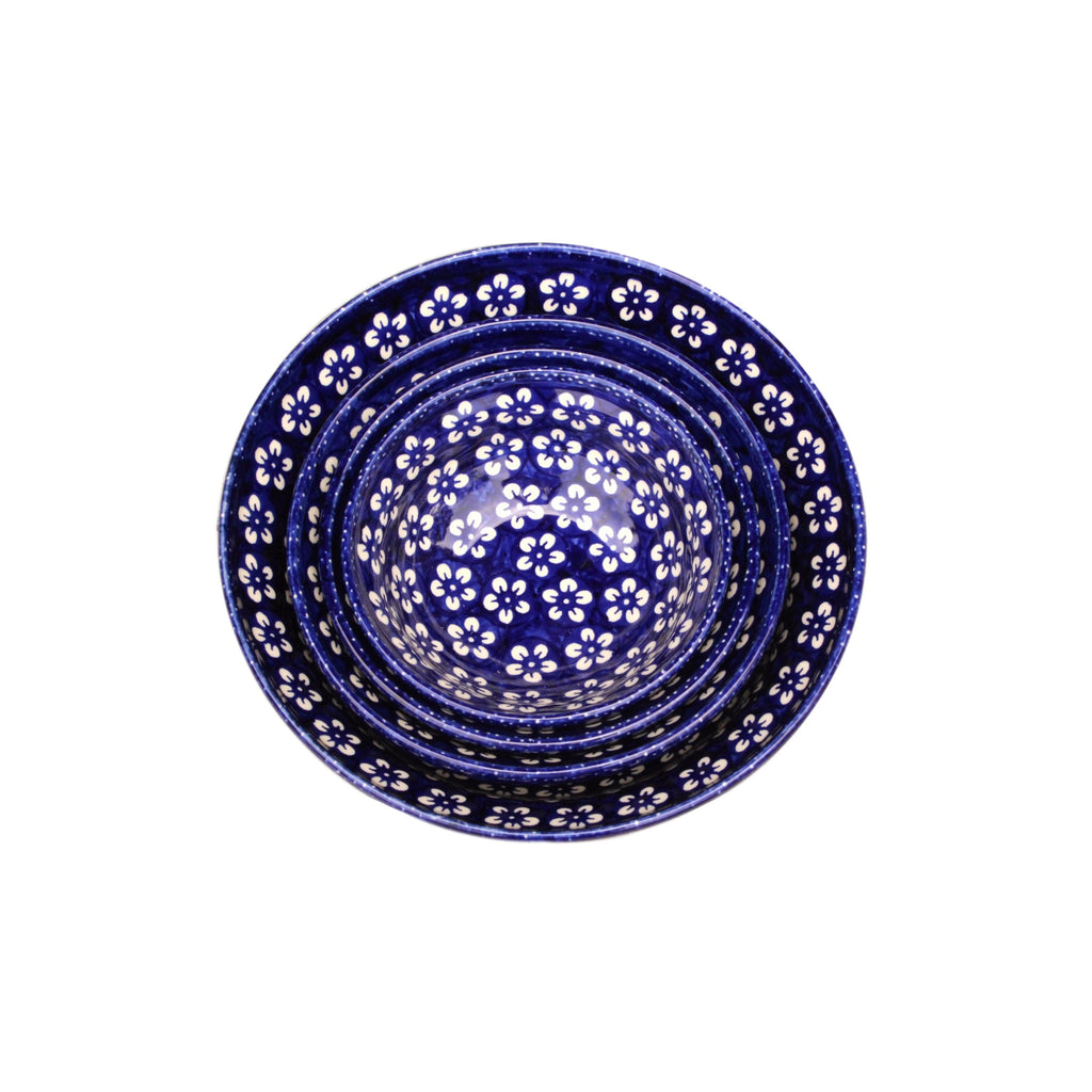 Blue Flowers - Set of 4 Bowls - Pas-Par-Tou