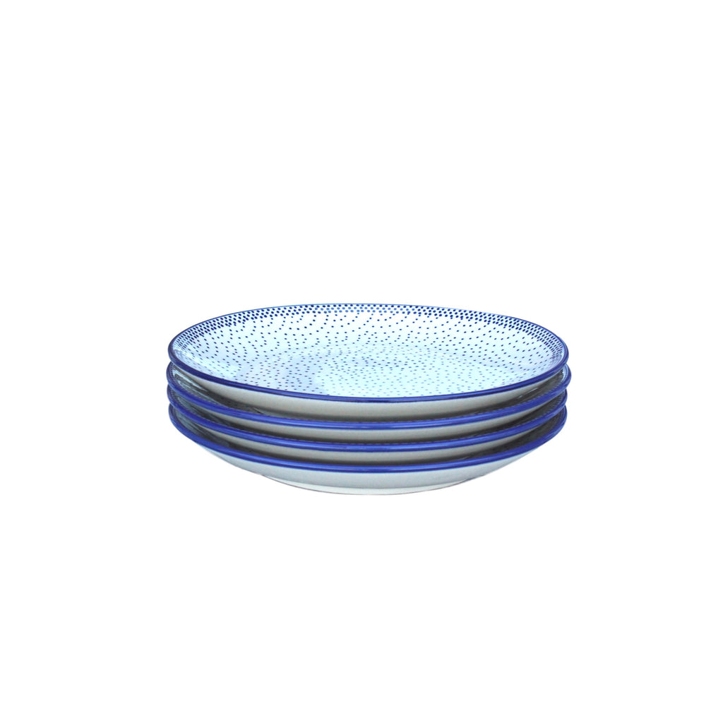 Tiny Blue Dots - Dinner Plate - PasParTou