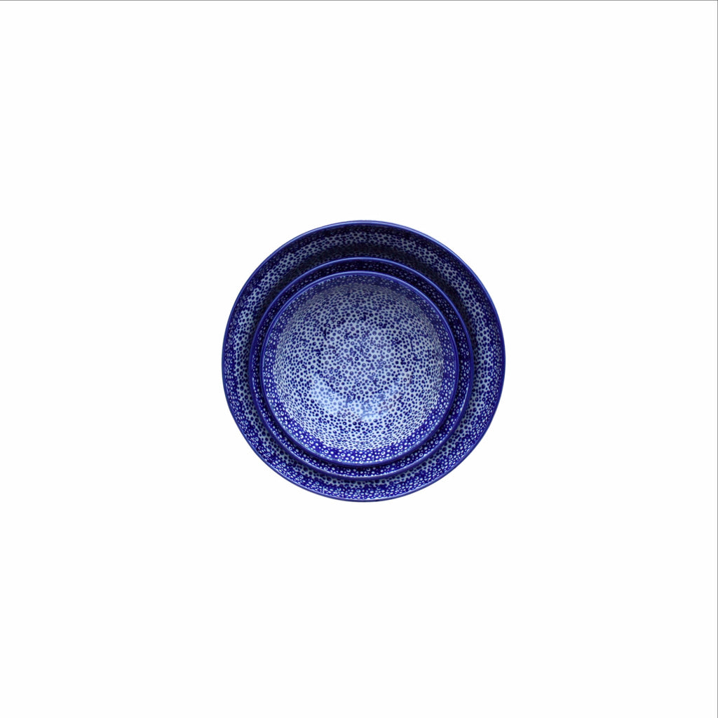 Blue Spatter - Set of 4 Bowl - Pas-Par-Tou