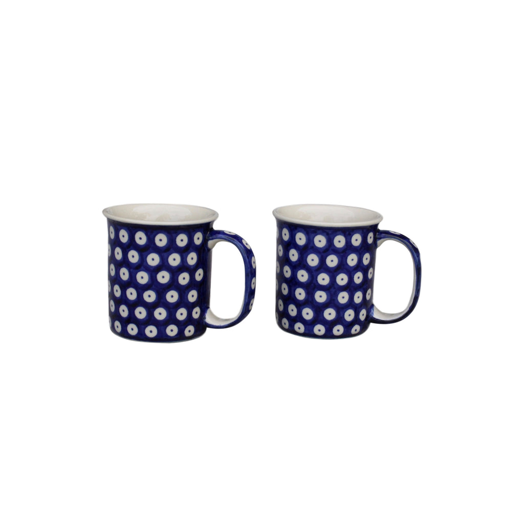 Dots in Dots -2  Classic Handled Mugs - Pas-Par-Tou