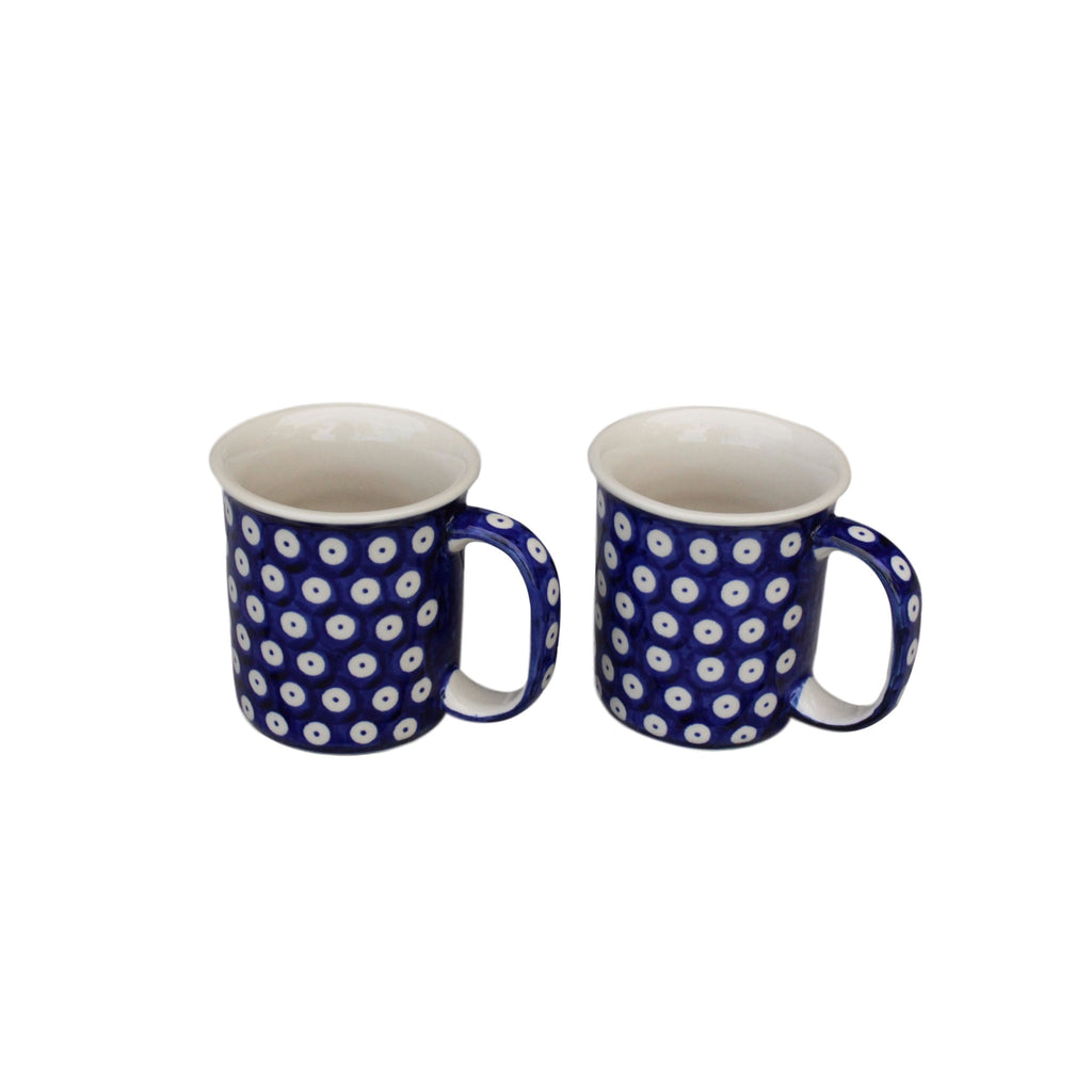 Dots in Dots - 2  Classic Handled Mugs - Pas-Par-Tou