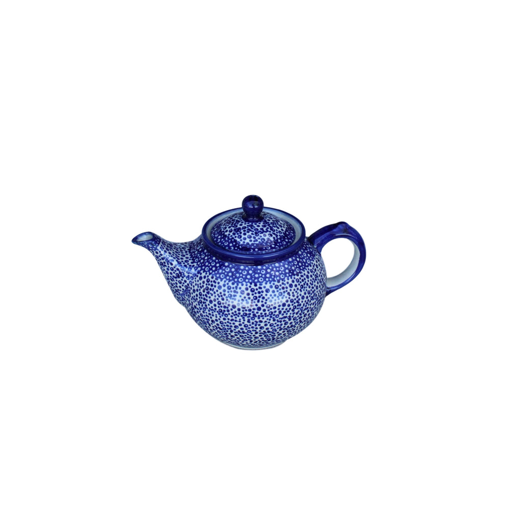 Blue Spatter - Small Teapot  Polish Ceramics - PasParTou