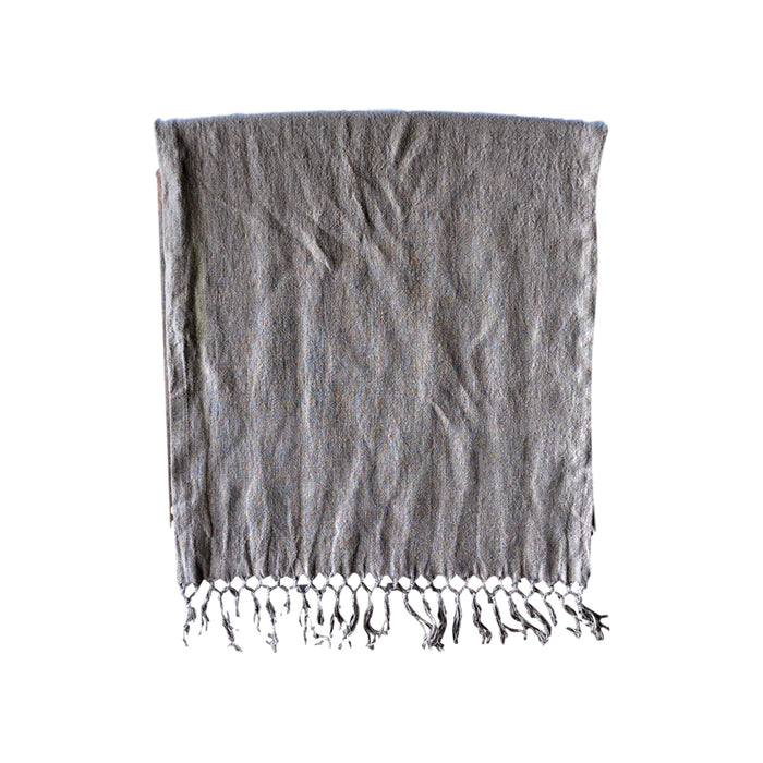 "Runner - Softwashed Linen Fringed Runner - Grey - 20"" wide"