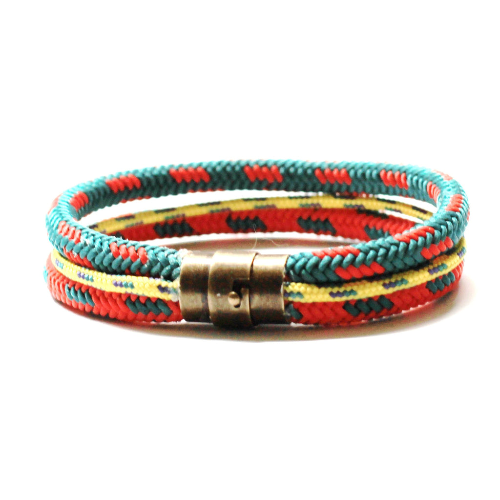 Classic Three Row Rope Bracelet - Forest - PasParTou
