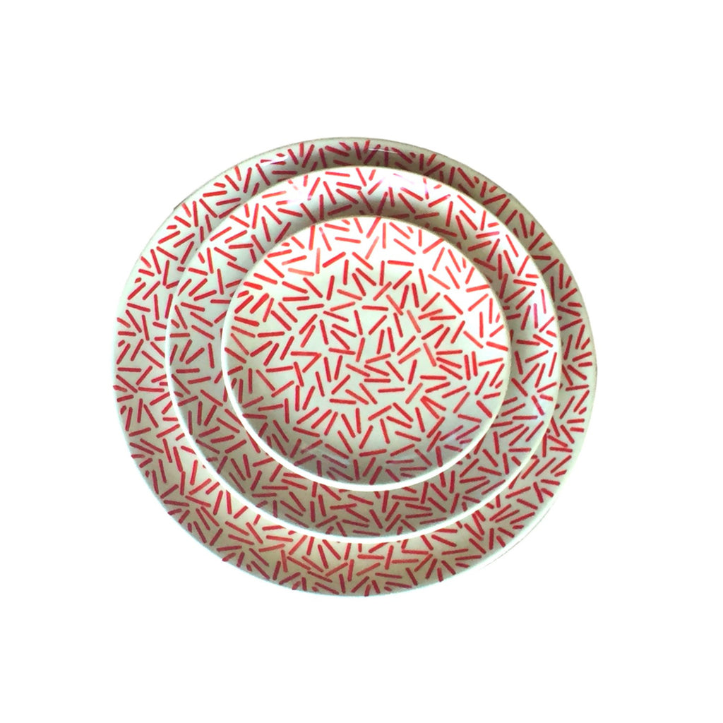 Op Art Red - Large Serving Plate - PasParTou