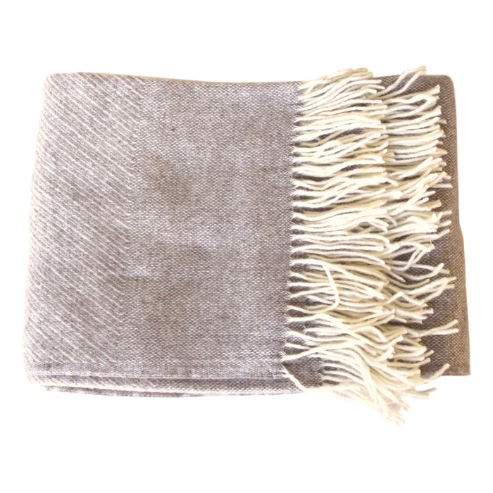 Oatmeal & Cream Merino/Mohair Sharkskin Throw - PasParTou