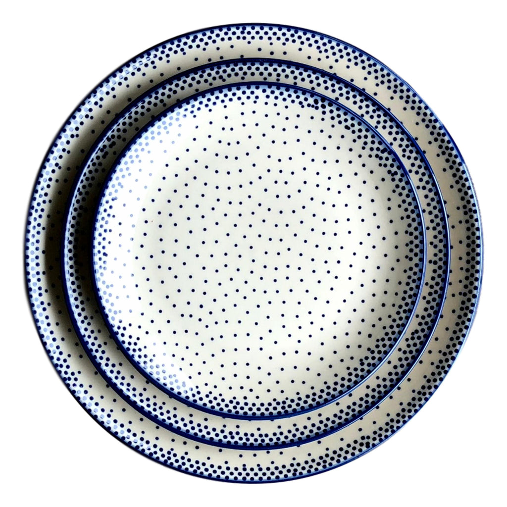 Tiny Blue Dots - Salad Plate  Polish Ceramics - PasParTou