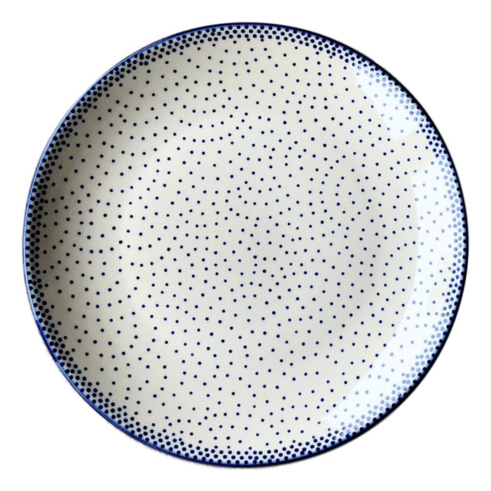 Tiny Blue Dots - Dinner Plate  Polish Ceramics - PasParTou