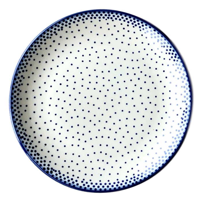 Tiny Blue Dots - Dessert Plate  Polish Ceramics - PasParTou