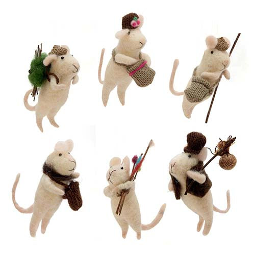 Ornament - Traveling Mouse  Christmas Ornaments - PasParTou