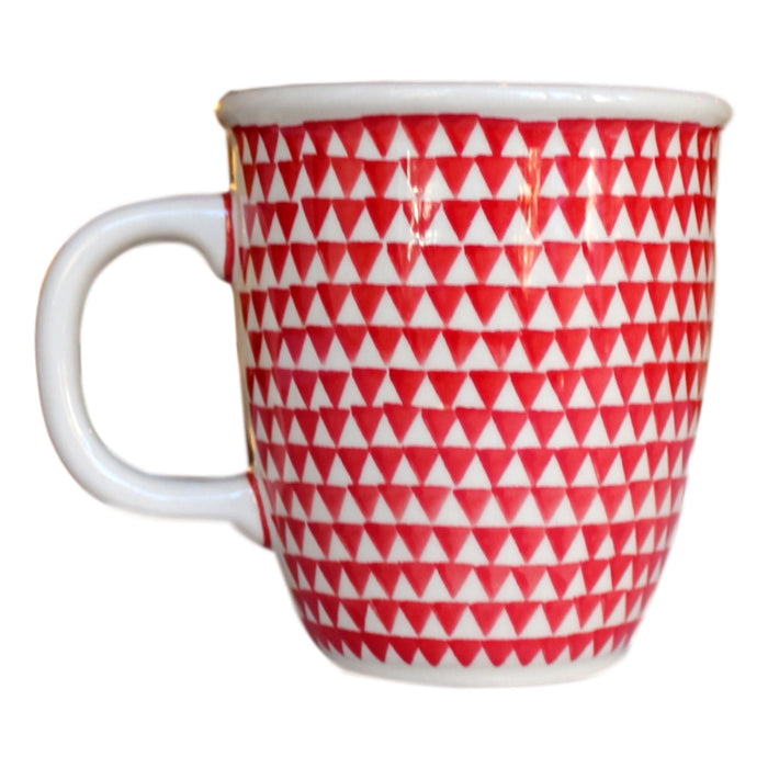 Triangles Red - Cup - PasParTou