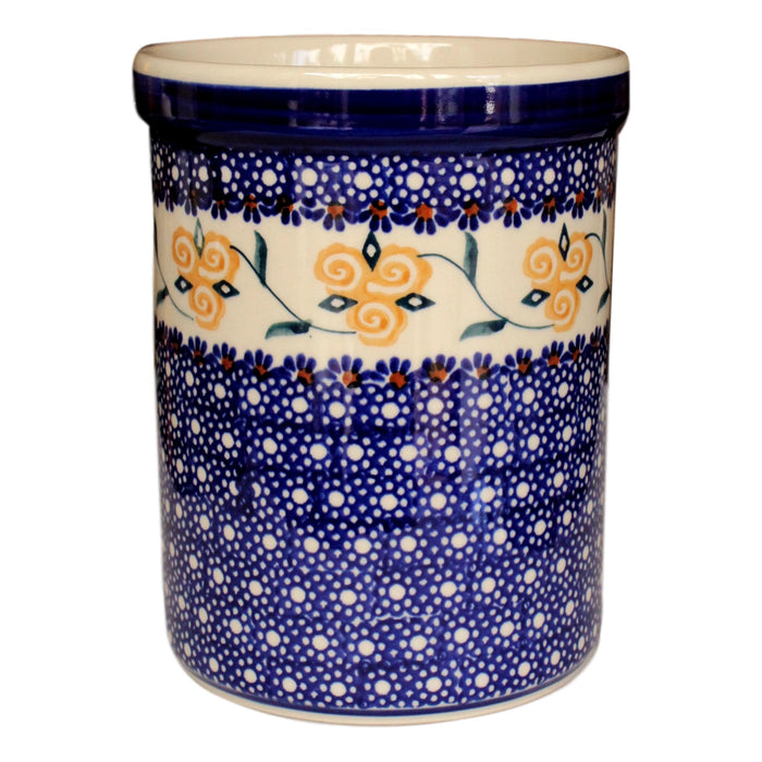 Golden Rose - Utensil Holder  Polish Ceramics - PasParTou