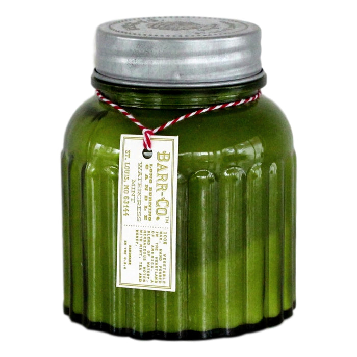 Barr Apothecary Jar Candle - Watercress Mint  Candles - PasParTou
