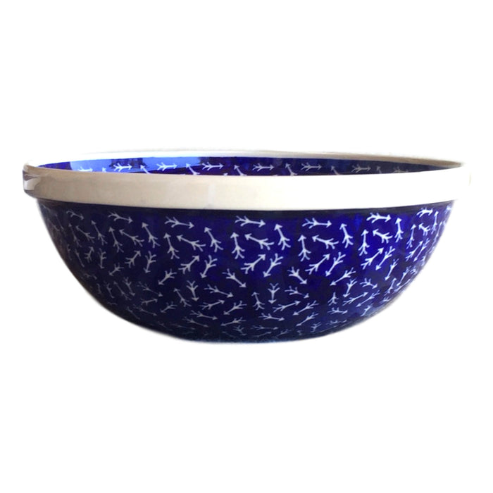 White Arrows - Medium Serving Bowl - PasParTou